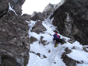 Good ice: Me on SC Gully